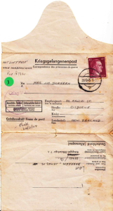 Ruth's first letter from Germany, dated  20 October 1943, but not received until 24 February 1944.
