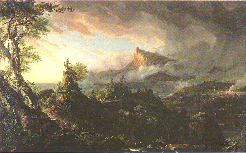 Thomas Cole, The Savage State . Oil on canvas, 1834